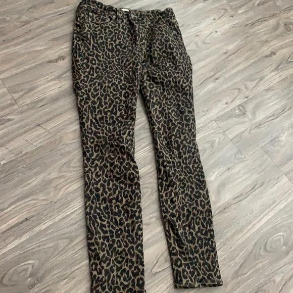 JCrew Leopard Skinny Jeans